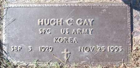GAY (VETERAN KOR), HUGH C - White County, Arkansas | HUGH C GAY (VETERAN KOR) - Arkansas Gravestone Photos