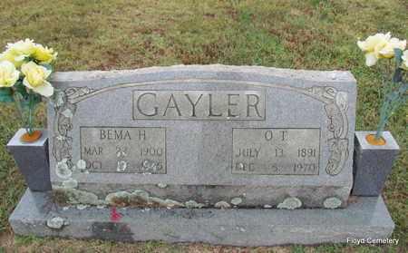 GAYLER, O T - White County, Arkansas | O T GAYLER - Arkansas Gravestone Photos
