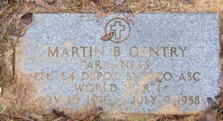 GENTRY (VETERAN WWI), MARTIN B - White County, Arkansas | MARTIN B GENTRY (VETERAN WWI) - Arkansas Gravestone Photos