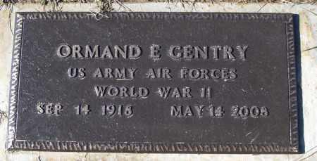 GENTRY (VETERAN WWII), ORMAND E - White County, Arkansas   ORMAND E GENTRY (VETERAN WWII) - Arkansas Gravestone Photos