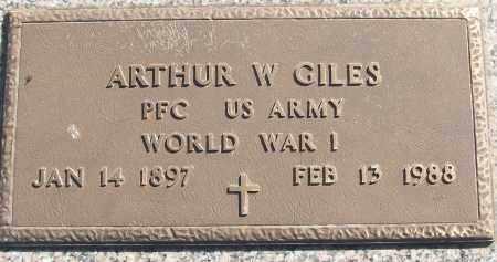GILES (VETERAN WWI), ARTHUR W - White County, Arkansas   ARTHUR W GILES (VETERAN WWI) - Arkansas Gravestone Photos