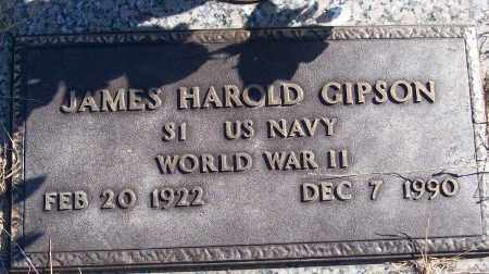 GIPSON (VETERAN WWII), JAMES HAROLD - White County, Arkansas | JAMES HAROLD GIPSON (VETERAN WWII) - Arkansas Gravestone Photos