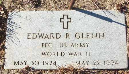 GLENN (VETERAN WWII), EDWARD R - White County, Arkansas | EDWARD R GLENN (VETERAN WWII) - Arkansas Gravestone Photos