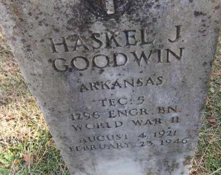 GOODWIN (VETERAN WWII), HASKEL J - White County, Arkansas | HASKEL J GOODWIN (VETERAN WWII) - Arkansas Gravestone Photos