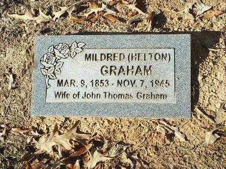 HELTON GRAHAM, MILDRED - White County, Arkansas | MILDRED HELTON GRAHAM - Arkansas Gravestone Photos