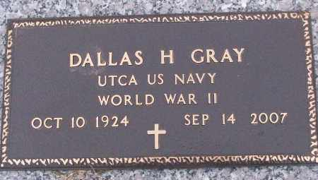 GRAY (VETERAN WWII), DALLAS H - White County, Arkansas | DALLAS H GRAY (VETERAN WWII) - Arkansas Gravestone Photos