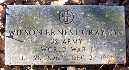 GRAYSON (VETERAN WWI), WILSON ERNEST - White County, Arkansas   WILSON ERNEST GRAYSON (VETERAN WWI) - Arkansas Gravestone Photos