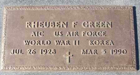 GREEN (VETERAN 2 WARS), RHEUBEN F - White County, Arkansas | RHEUBEN F GREEN (VETERAN 2 WARS) - Arkansas Gravestone Photos