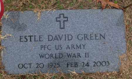 GREEN (VETERAN WWII), ESTLE DAVID - White County, Arkansas | ESTLE DAVID GREEN (VETERAN WWII) - Arkansas Gravestone Photos