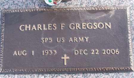 GREGSON (VETERAN), CHARLES F - White County, Arkansas | CHARLES F GREGSON (VETERAN) - Arkansas Gravestone Photos