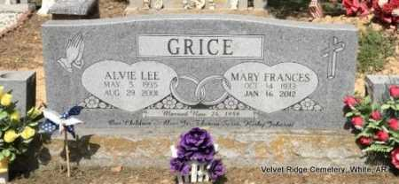 GRICE, ALVIE LEE - White County, Arkansas   ALVIE LEE GRICE - Arkansas Gravestone Photos