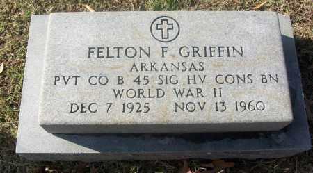 GRIFFIN  (VETERAN WWII), FELTON F - White County, Arkansas | FELTON F GRIFFIN  (VETERAN WWII) - Arkansas Gravestone Photos