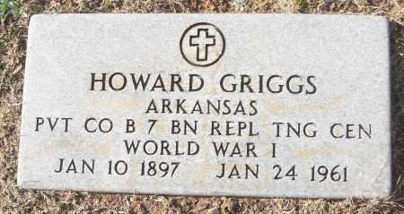 GRIGGS (VETERAN WWI), HOWARD - White County, Arkansas   HOWARD GRIGGS (VETERAN WWI) - Arkansas Gravestone Photos