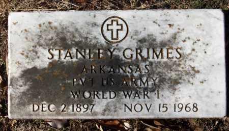 GRIMES (VETERAN  WWI), STANLEY - White County, Arkansas | STANLEY GRIMES (VETERAN  WWI) - Arkansas Gravestone Photos