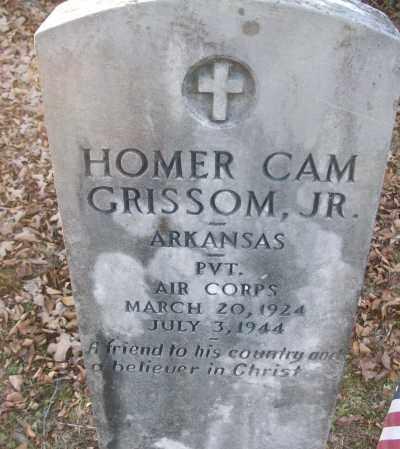 GRISSOM, JR (VETERAN), HOMER CAM - White County, Arkansas   HOMER CAM GRISSOM, JR (VETERAN) - Arkansas Gravestone Photos