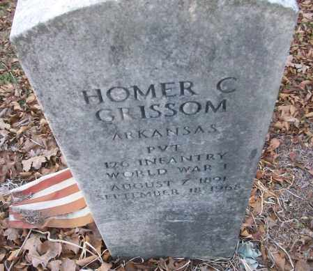 GRISSOM (VETERAN WWI), HOMER C - White County, Arkansas | HOMER C GRISSOM (VETERAN WWI) - Arkansas Gravestone Photos