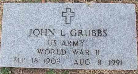 GRUBBS (VETERAN WWII), JOHN L - White County, Arkansas | JOHN L GRUBBS (VETERAN WWII) - Arkansas Gravestone Photos