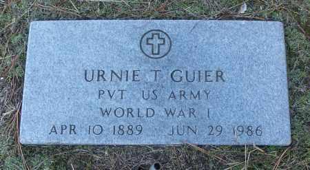 GUIER (VETERAN WWI), URNIE T - White County, Arkansas | URNIE T GUIER (VETERAN WWI) - Arkansas Gravestone Photos