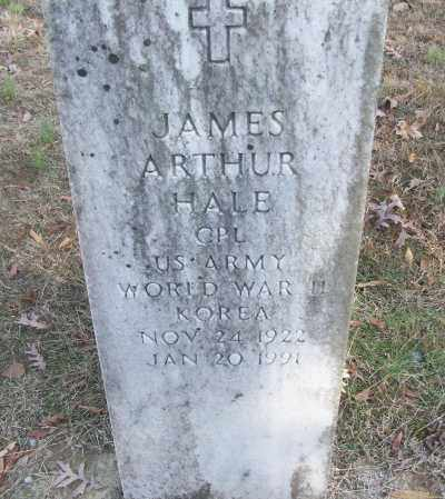 HALE (VETERAN 2 WARS), JAMES ARTHUR - White County, Arkansas | JAMES ARTHUR HALE (VETERAN 2 WARS) - Arkansas Gravestone Photos