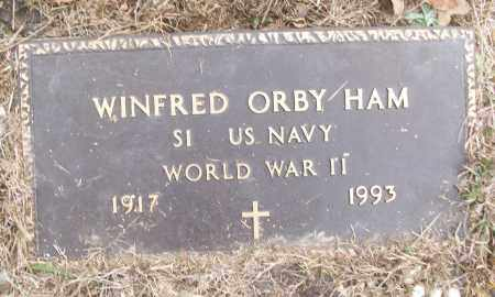 HAM (VETERAN WWII), WINFRED ORBY - White County, Arkansas | WINFRED ORBY HAM (VETERAN WWII) - Arkansas Gravestone Photos