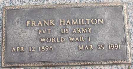 HAMILTON (VETERAN WWI), FRANK - White County, Arkansas | FRANK HAMILTON (VETERAN WWI) - Arkansas Gravestone Photos