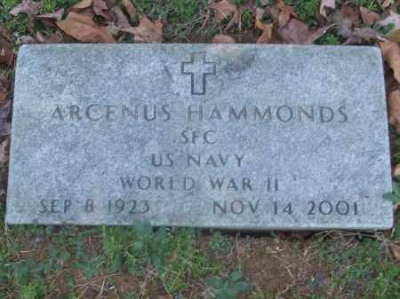HAMMONDS (VETERAN WWII), ARCENUS - White County, Arkansas   ARCENUS HAMMONDS (VETERAN WWII) - Arkansas Gravestone Photos
