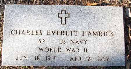HAMRICK (VETERAN WWII), CHARLES EVERETT - White County, Arkansas | CHARLES EVERETT HAMRICK (VETERAN WWII) - Arkansas Gravestone Photos