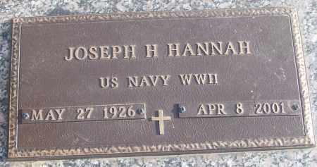 HANNAH (VETERAN WWII), JOSEPH H - White County, Arkansas   JOSEPH H HANNAH (VETERAN WWII) - Arkansas Gravestone Photos