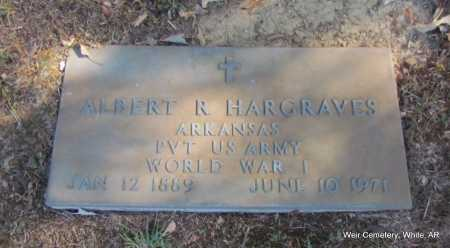 HARGRAVES (VETERAN WWI), ALBERT R - White County, Arkansas | ALBERT R HARGRAVES (VETERAN WWI) - Arkansas Gravestone Photos