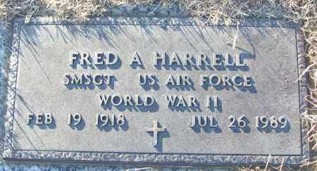 HARRELL (VETERAN WWII), FRED A - White County, Arkansas   FRED A HARRELL (VETERAN WWII) - Arkansas Gravestone Photos