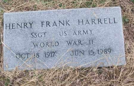HARRELL (VETERAN WWII), HENRY FRANK - White County, Arkansas | HENRY FRANK HARRELL (VETERAN WWII) - Arkansas Gravestone Photos