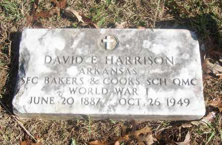 HARRISON  (VETERAN WWI), DAVID E. - White County, Arkansas | DAVID E. HARRISON  (VETERAN WWI) - Arkansas Gravestone Photos
