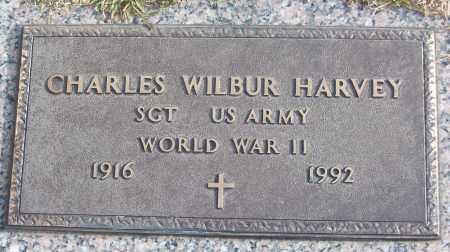 HARVEY (VETERAN WWII), CHARLES WILBUR - White County, Arkansas | CHARLES WILBUR HARVEY (VETERAN WWII) - Arkansas Gravestone Photos