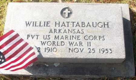 HATTABAUGH  (VETERAN WWII), WILLIE - White County, Arkansas | WILLIE HATTABAUGH  (VETERAN WWII) - Arkansas Gravestone Photos