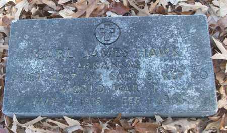 HAWK (VETERAN WWII), CARL JAMES - White County, Arkansas | CARL JAMES HAWK (VETERAN WWII) - Arkansas Gravestone Photos