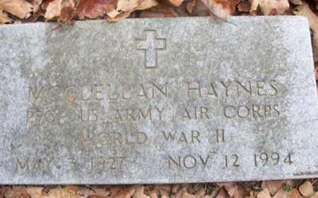 HAYNES  (VETERAN WWII), MCCLELLAN - White County, Arkansas | MCCLELLAN HAYNES  (VETERAN WWII) - Arkansas Gravestone Photos