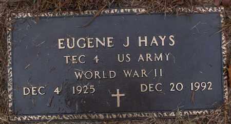 HAYS (VETERAN WWII), EUGENE J - White County, Arkansas   EUGENE J HAYS (VETERAN WWII) - Arkansas Gravestone Photos
