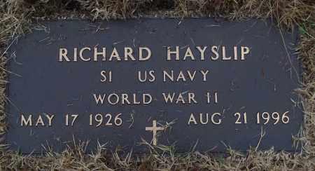 HAYSLIP (VETERAN WWII), RICHARD - White County, Arkansas | RICHARD HAYSLIP (VETERAN WWII) - Arkansas Gravestone Photos