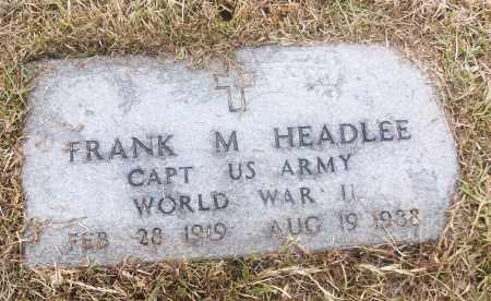 HEADLEE  (VETERAN WWII), FRANK M - White County, Arkansas | FRANK M HEADLEE  (VETERAN WWII) - Arkansas Gravestone Photos