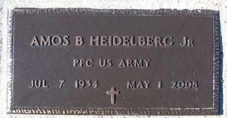 HEIDELBERG, JR (VETERAN), AMOS B - White County, Arkansas | AMOS B HEIDELBERG, JR (VETERAN) - Arkansas Gravestone Photos