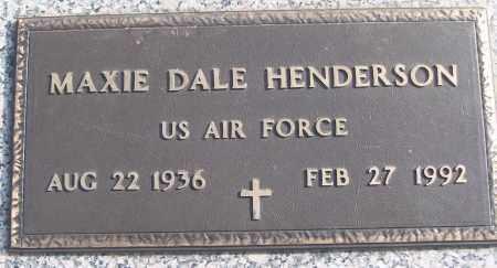 HENDERSON (VETERAN), MAXIE DALE - White County, Arkansas | MAXIE DALE HENDERSON (VETERAN) - Arkansas Gravestone Photos
