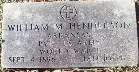HENDERSON (VETERAN WWI), WILLIAM M - White County, Arkansas | WILLIAM M HENDERSON (VETERAN WWI) - Arkansas Gravestone Photos