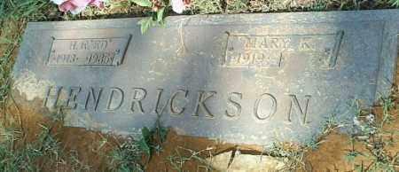 HENDRICKSON, H E EDD - White County, Arkansas   H E EDD HENDRICKSON - Arkansas Gravestone Photos