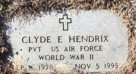 HENDRIX (VETERAN WWII), CLYDE E - White County, Arkansas | CLYDE E HENDRIX (VETERAN WWII) - Arkansas Gravestone Photos