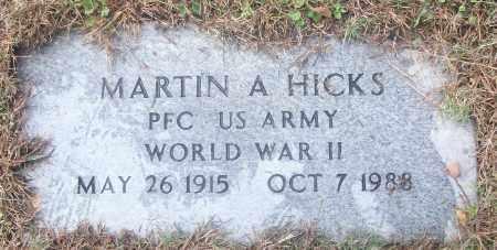 HICKS  (VETERAN WWII), MARTON A - White County, Arkansas   MARTON A HICKS  (VETERAN WWII) - Arkansas Gravestone Photos