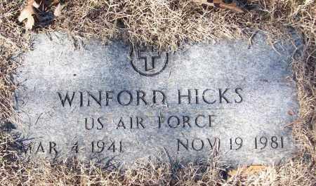 HICKS (VETERAN), WINFORD - White County, Arkansas | WINFORD HICKS (VETERAN) - Arkansas Gravestone Photos