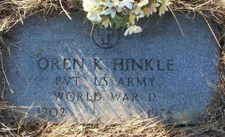HINKLE (VETERAN WWII), OREN K - White County, Arkansas | OREN K HINKLE (VETERAN WWII) - Arkansas Gravestone Photos