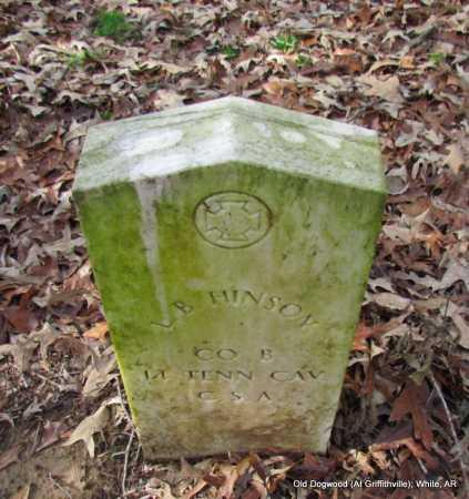HINSON (VETERAN CSA), L B - White County, Arkansas   L B HINSON (VETERAN CSA) - Arkansas Gravestone Photos