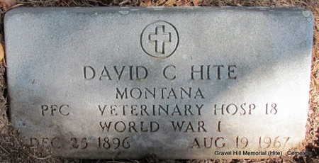 HITE (VETERAN WWI), DAVID C - White County, Arkansas | DAVID C HITE (VETERAN WWI) - Arkansas Gravestone Photos