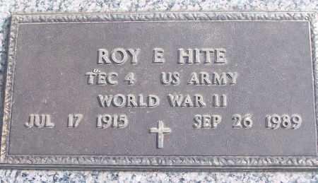 HITE (VETERAN WWII), ROY E - White County, Arkansas | ROY E HITE (VETERAN WWII) - Arkansas Gravestone Photos